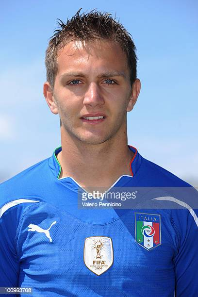 Domenico Criscito of Italy national team poses for a photo during the official Fifa World Cup 2010 portrait session on May 26 2010 in Sestriere near...