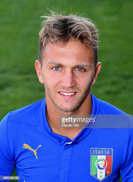 Domenico Criscito of Italy poses during the official portrait session at Coverciano on August 31 2015 in Florence Italy