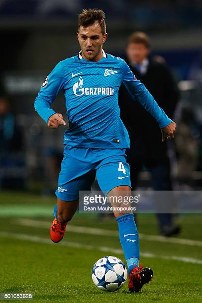Domenico Criscito of Zenit Saint Petersburg in action during the group H UEFA Champions League match between KAA Gent and Football Club Zenit Saint...