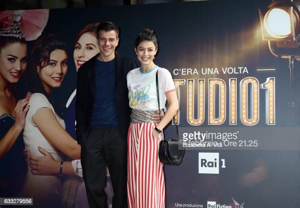 Domenico Diele and Alessandra Mastronardi attend a photocall for 'C'Era Una Volta Studio 1' at Rai Viale Mazzini on February 1 2017 in Rome Italy