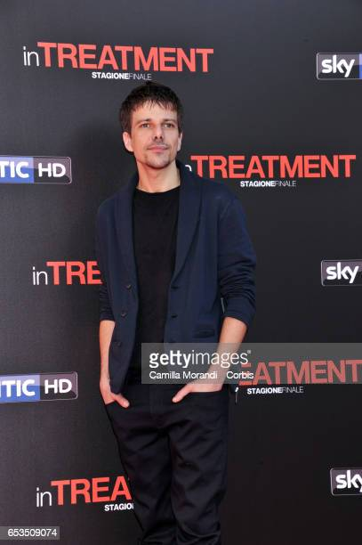 Domenico Diele attends a photocall for 'In Treatment' on March 15 2017 in Rome Italy