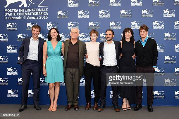 Domenico Diele Corinna Lo Castro Giorgio Colangeli Piero Messina Lou de Laage Juliette Binoch and Antonio Folletto attend a photocall for 'The Wait'...