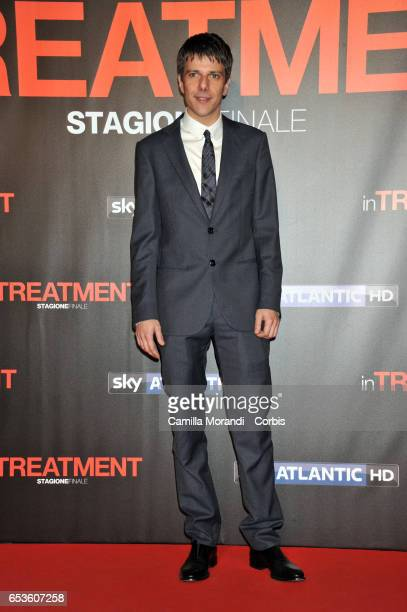 Domenico Diele walks a red carpet for 'In Treatment' on March 15 2017 in Rome Italy