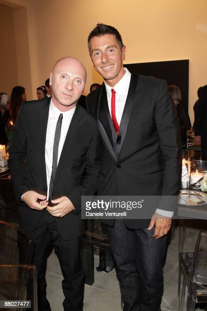 Domenico Dolce and Stefano Gabbana attend the Scott Short gala dinner at the Cardi Black Box on May 27 2009 in Milan Italy