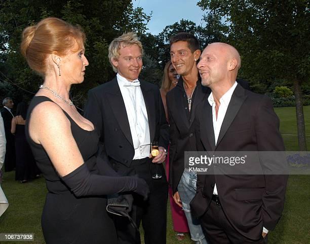 Domenico Dolce with Sarah Ferguson and Stefano Gabbana
