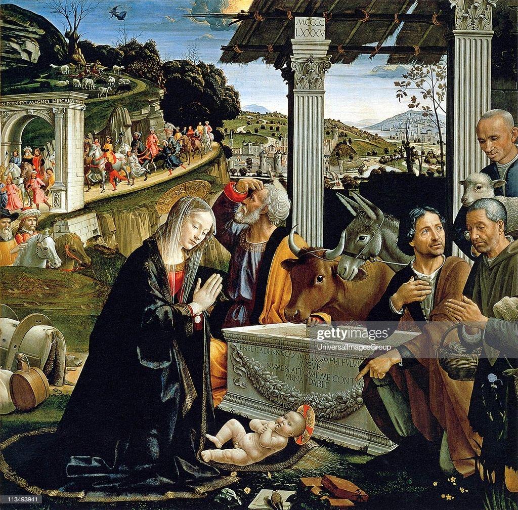 Domenico Ghirlandaio Italian Early Renaissance Painter, 1449-1494 The Nativity c 1482