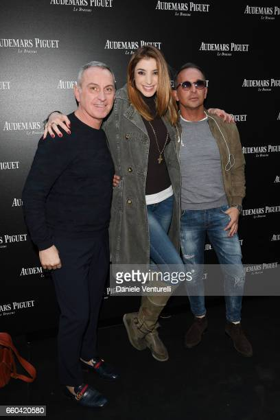 Domenico Zambelli Margherita Zanatta and Luca Alghisi attend The Art Projects By Audemars Piguet Presentation on March 29 2017 in Milan Italy
