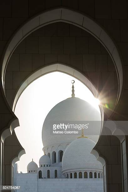 Domes and arches of the Grand Mosque of Abu Dhabi