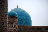 Domes of Sher Dor Medressa in Registan