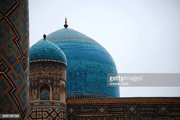 Domes of Sher Dor Medressa in Registan