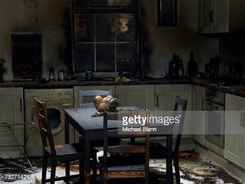台所バーントの暖炉