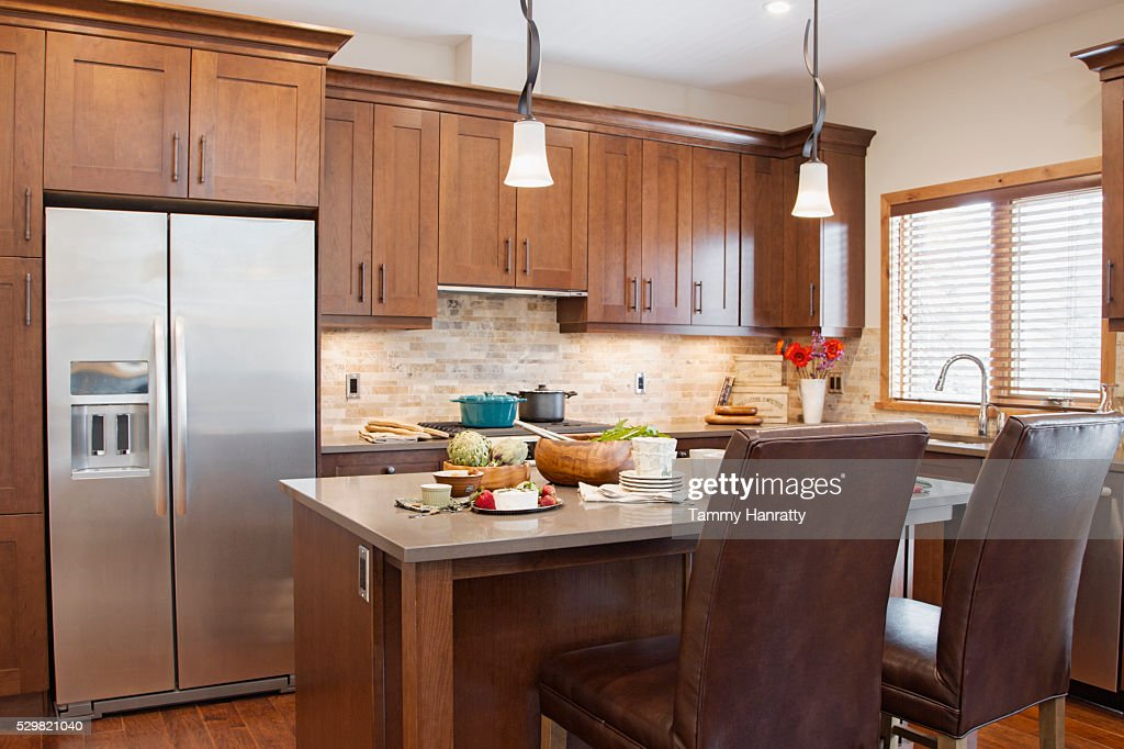 Domestic kitchen : Stock Photo