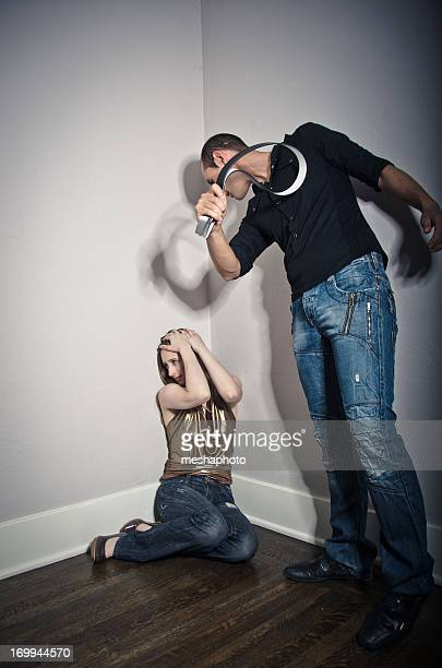 Domestic Violence Husband Abusing His Wife