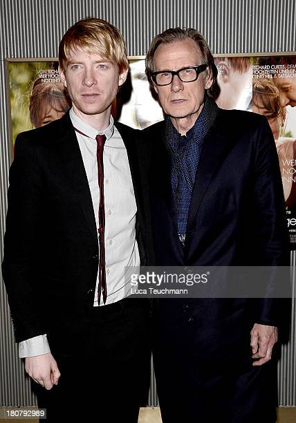 Domhnall Gleeson and Bill Nighy attend a photocall for the film 'About Time' at Astor Film Lounge on September 16 2013 in Berlin Germany