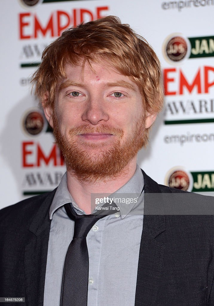<a gi-track='captionPersonalityLinkClicked' href=/galleries/search?phrase=Domhnall+Gleeson&family=editorial&specificpeople=653261 ng-click='$event.stopPropagation()'>Domhnall Gleeson</a> attends the 18th Jameson Empire Film Awards at Grosvenor House, on March 24, 2013 in London, England.
