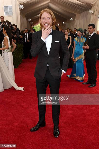 Domhnall Gleeson attends the 'China Through The Looking Glass' Costume Institute Benefit Gala at the Metropolitan Museum of Art on May 4 2015 in New...