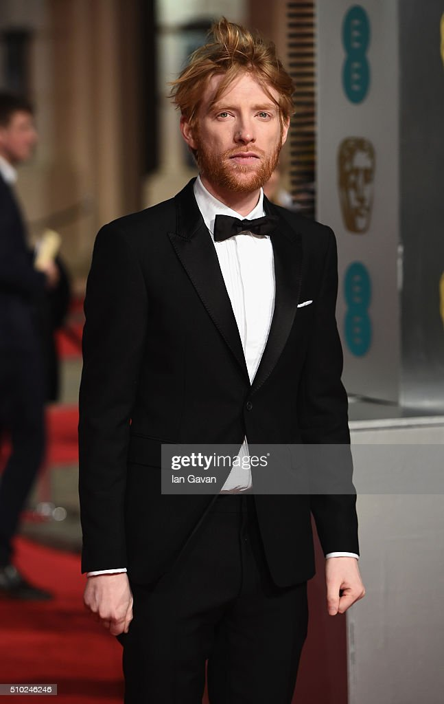 <a gi-track='captionPersonalityLinkClicked' href=/galleries/search?phrase=Domhnall+Gleeson&family=editorial&specificpeople=653261 ng-click='$event.stopPropagation()'>Domhnall Gleeson</a> attends the EE British Academy Film Awards at the Royal Opera House on February 14, 2016 in London, England.