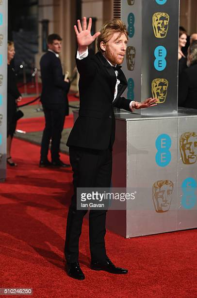Domhnall Gleeson attends the EE British Academy Film Awards at the Royal Opera House on February 14 2016 in London England