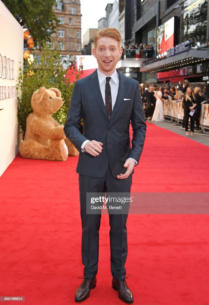 Domhnall Gleeson attends the World Premiere of 'Goodbye Christopher Robin' at Odeon Leicester Square on September 20, 2017 in London, England.