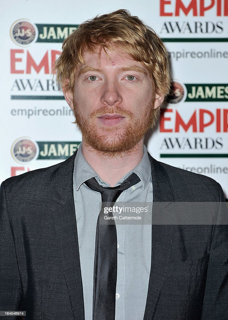 Domhnall Gleeson is pictured arriving at the Jameson Empire Awards at Grosvenor House on March 24, 2013 in London, England.