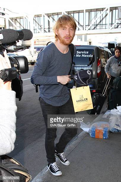Domhnall Gleeson is seen at LAX on December 18 2015 in Los Angeles California