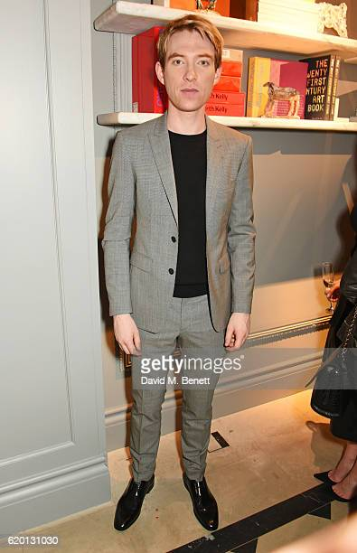 Domhnall Gleeson wearing Burberry attends an event to celebrate 'The Tale of Thomas Burberry' at Burberry's all day cafe Thomas's on November 1 2016...