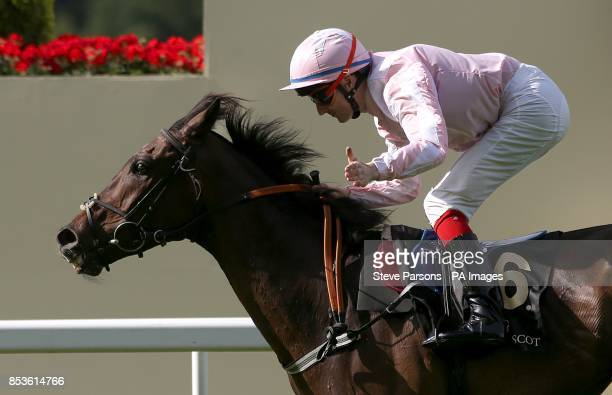 Domination ridden by Fran Berry crosses the line to win the Ascot Stakes during Day One of the 2014 Royal Ascot Meeting at Ascot Racecourse Berkshire