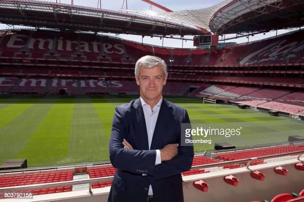 Domingos Soares de Oliveira chief executive officer of Sport Lisboa e Benfica SAD Plc poses for a photograph at the Luz stadium in Lisbon Portugal on...