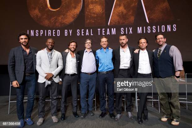 Dominic Adams Edwin Hodge Kyle Schmid Bruce McKenna David Broyles Barry Sloane Walton Goggins and Damian Holbrook pose for a photo at the FYC Event...