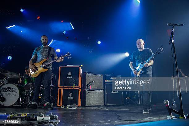 Dominic Aitchison and Stuart Braithwaite of Mogwai perform live at The Roundhouse on June 24 2015 in London United Kingdom