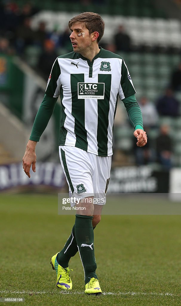 Dominic Blizzard Of Plymouth Argyle In Action During The Sky Bet League Two Match Between