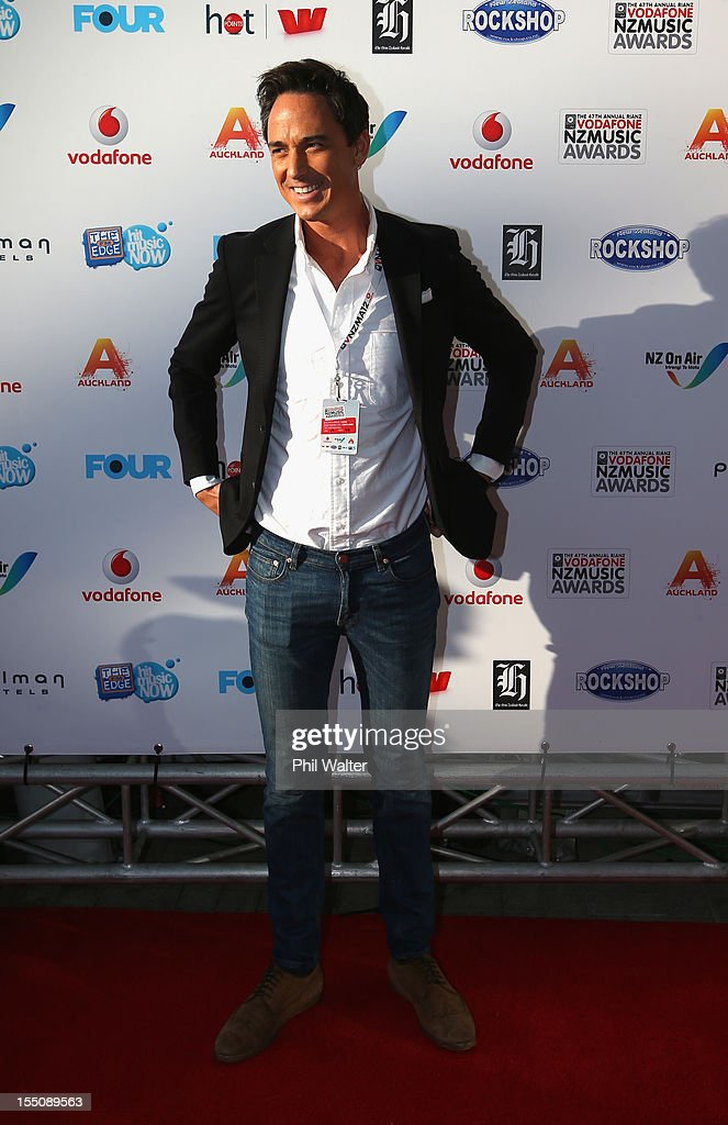 Dominic Bowden arrives for the 2012 Vodafone New Zealand Music Awards at Vector Arena on November 1, 2012 in Auckland, New Zealand.