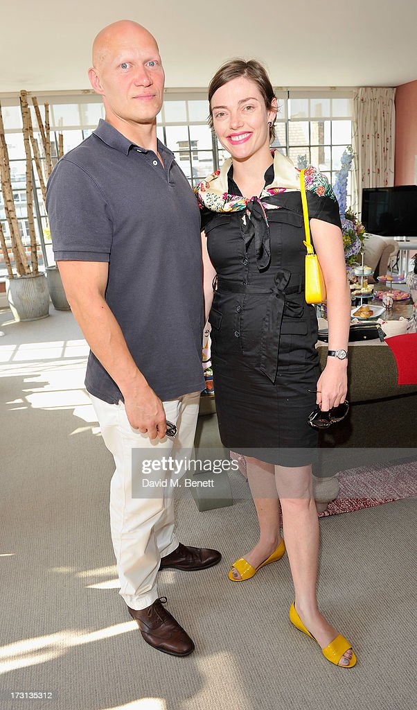 Dominic Burns and Camilla Rutherford attend Mary Katrantzou for Rodial candle launch party at Soho Hotel on July 8, 2013 in London, England.