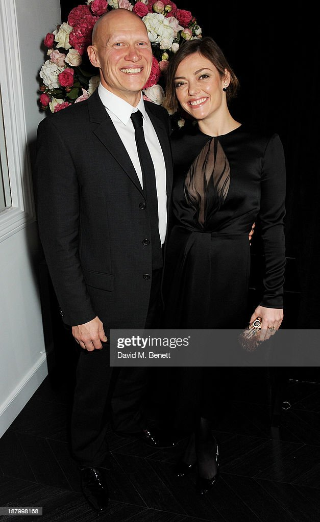 Dominic Burns (L) and Camilla Rutherford attend the opening of the Dior Beauty Boutique in Covent Garden on November 14, 2013 in London, England.