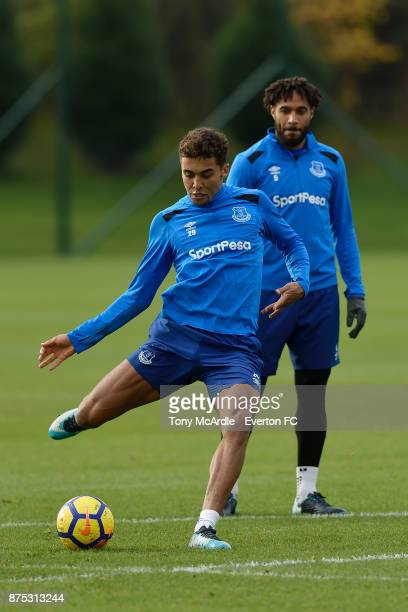 Dominic CalvertLewin during the Everton Training session at USM Finch Farm on November 17 2017 in Halewood England