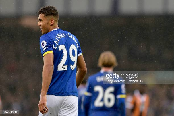 Dominic CalvertLewin during the Premier League match between Everton and Hull City at the Goodison Park on March 18 2017 in Liverpool England