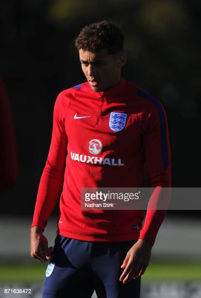 Dominic CalvertLewin of England U21's during a training session at St Georges Park on November 8 2017 in BurtonuponTrent England
