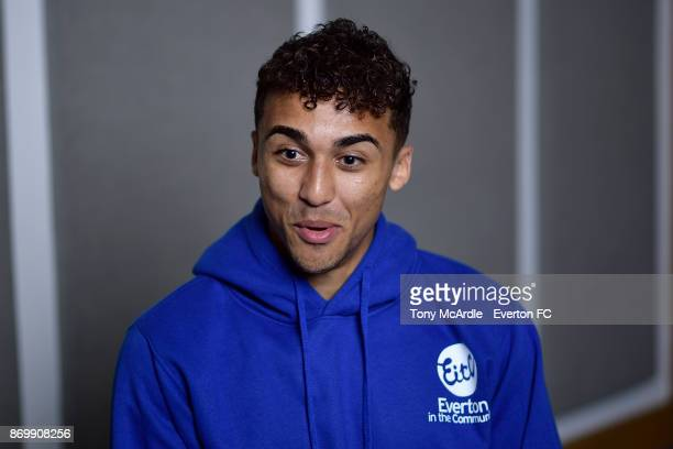 Dominic CalvertLewin of Everton poses for a photo at USM Finch Farm on November 3 2017 in Halewood England
