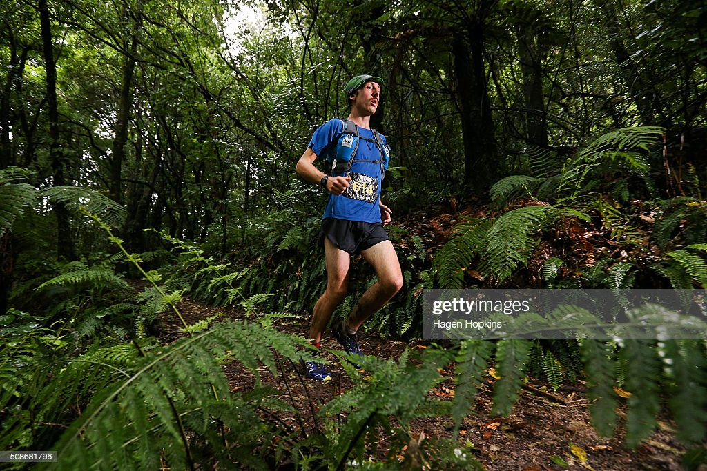Dominic Channon of New Zealand in action during the Tarawera Ultramarathon on February 6, 2016 in Rotorua, New Zealand.