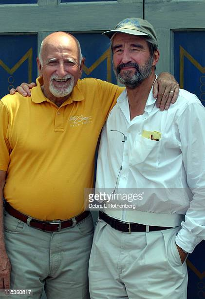 Dominic Chianese and Sam Waterston during 2004 Shakespeare In Central Park Production Of 'Much Ado About Nothing' Rehearsal Scenes June 30 2004 at...