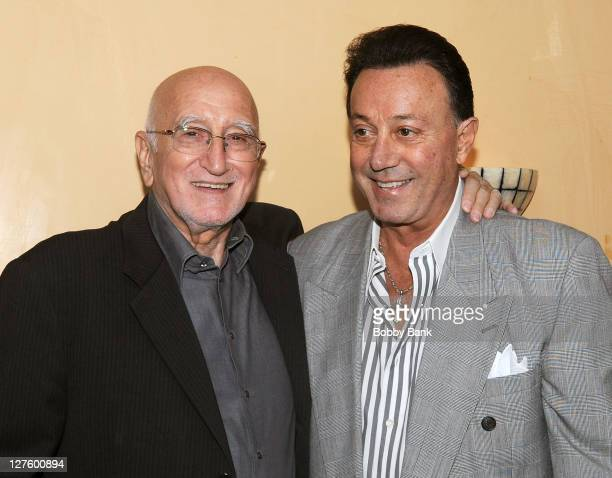 Dominic Chianese and Tony Darrow attend The Sopranos Celebrity Dinner at Empire Steak House on September 29 2011 in New York City