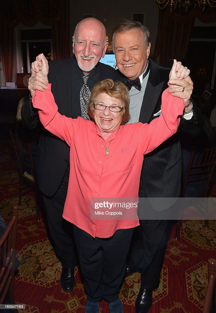 Dominic Chianese, Dr. Ruth Westheimer, and Marvin Scott attend the Table 4 Writers Foundation 1st Annual Awards Gala on March 7, 2013 in New York City.