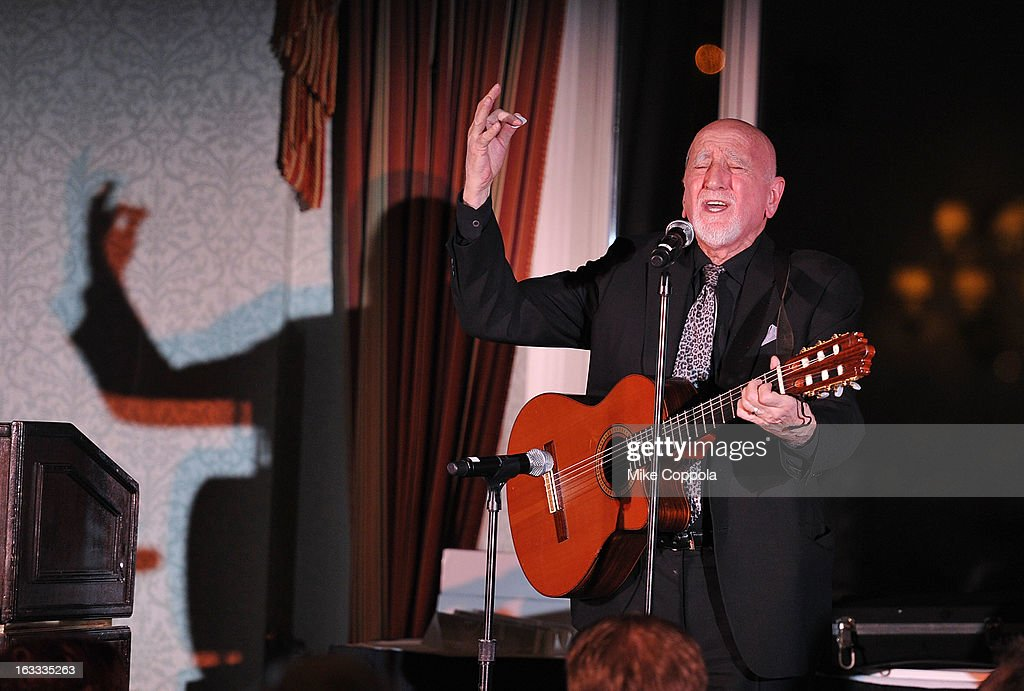 Dominic Chianese performs at the Table 4 Writers Foundation 1st Annual Awards Gala on March 7, 2013 in New York City.