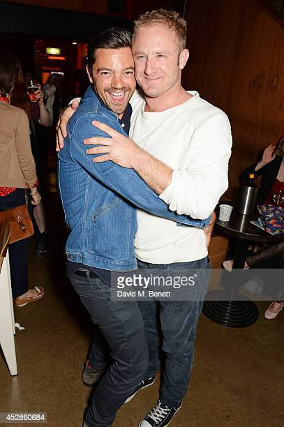 Dominic Cooper and cast member Ben Foster attend an after party following the press night performance of 'A Streetcar Named Desire' at The Young Vic...