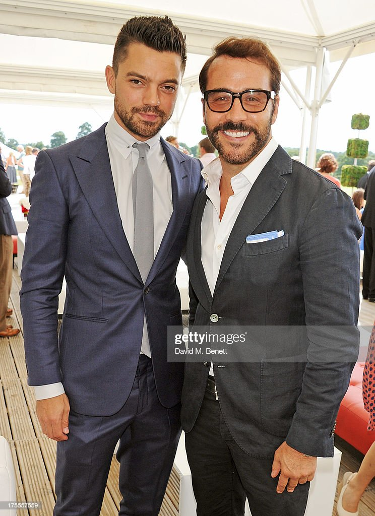 Dominic Cooper (L) and Jeremy Piven attend day 2 of the Audi Polo Challenge at Coworth Park Polo Club on August 4, 2013 in Ascot, England.