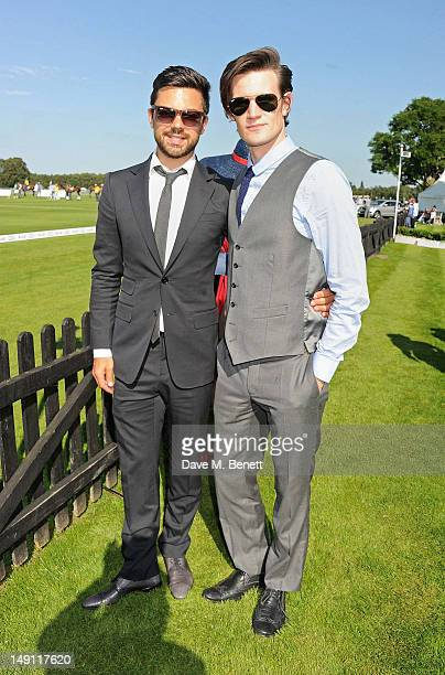 Dominic Cooper and Matt Smith attend the Audi International Guards Polo at Guards Polo Club on July 22 2012 in Egham United Kingdom