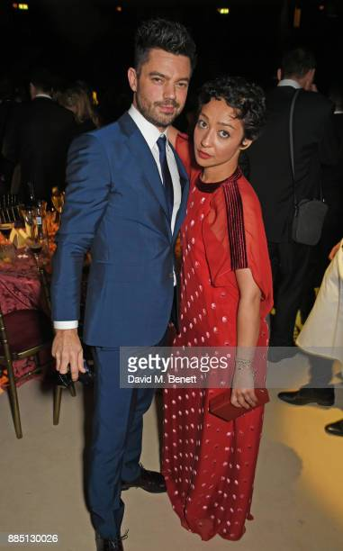 Dominic Cooper and Ruth Negga attend the London Evening Standard Theatre Awards 2017 after party at the Theatre Royal Drury Lane on December 3 2017...