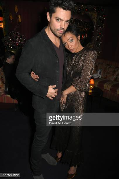 Dominic Cooper and Ruth Negga attend the Nick Cave The Bad Seeds x The Vampires Wife x Matchesfashioncom party at Loulou's on November 22 2017 in...