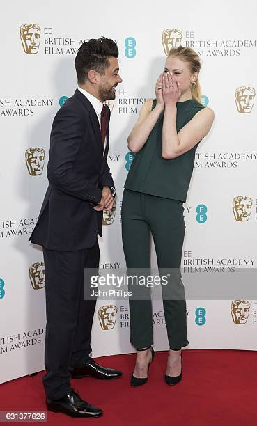 Dominic Cooper and Sophie Turner attend the nominations for the EE British Academy Film Awards are announced on January 10 2017 in London United...