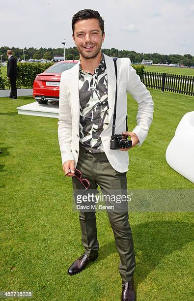 Dominic Cooper attends Audi International at Guards Polo Club near Windsor to support England as it faces Argentina for the Coronation Cup on July 26...